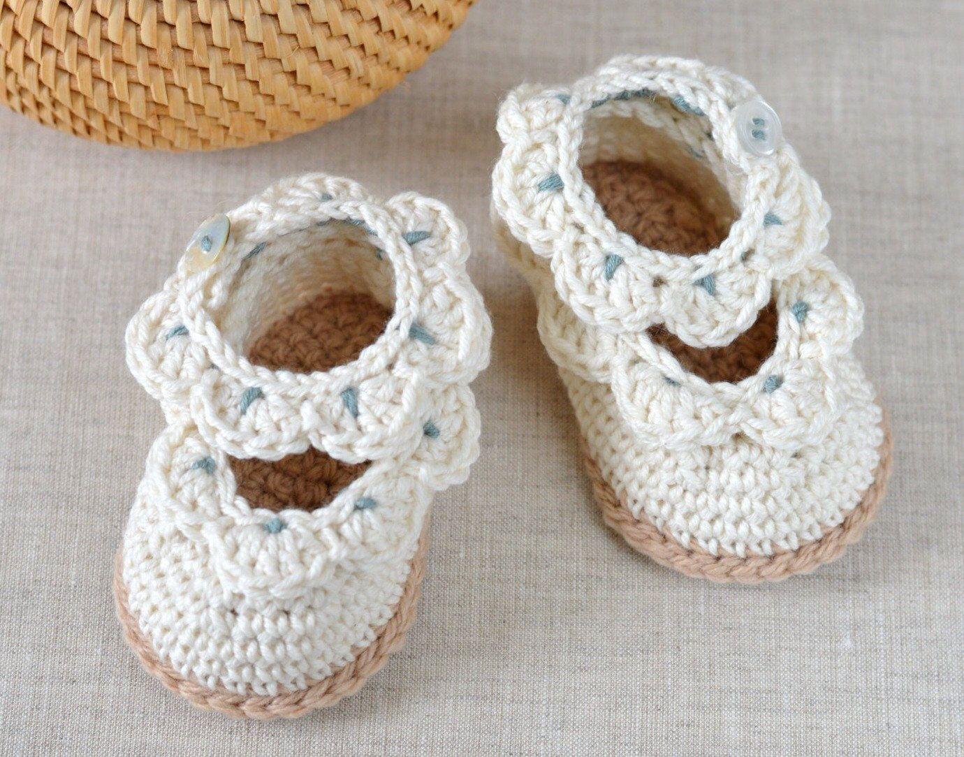 CROCHET PATTERN Baby Sandals with Scallops Easy Crochet Pattern 3 ...