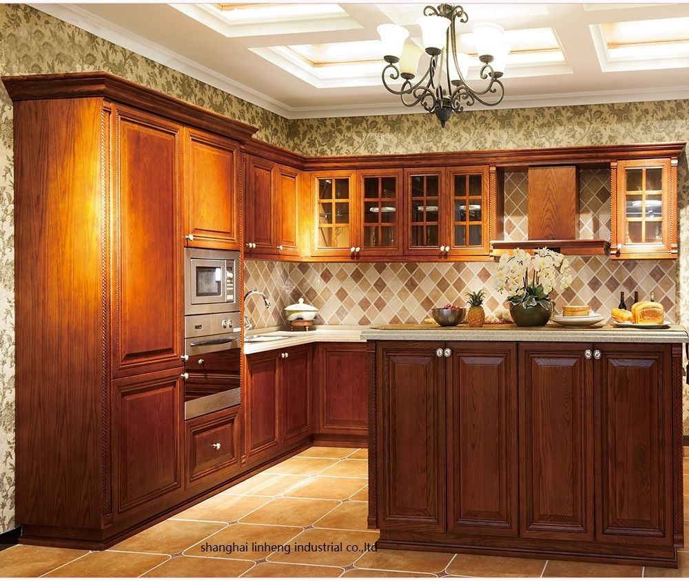 Solid Wood Kitchen Cabinet Lh Sw092 Solid Wood Kitchen In 2020 Solid Wood Kitchens Solid Wood Kitchen Cabinets Wood Kitchen Cabinets