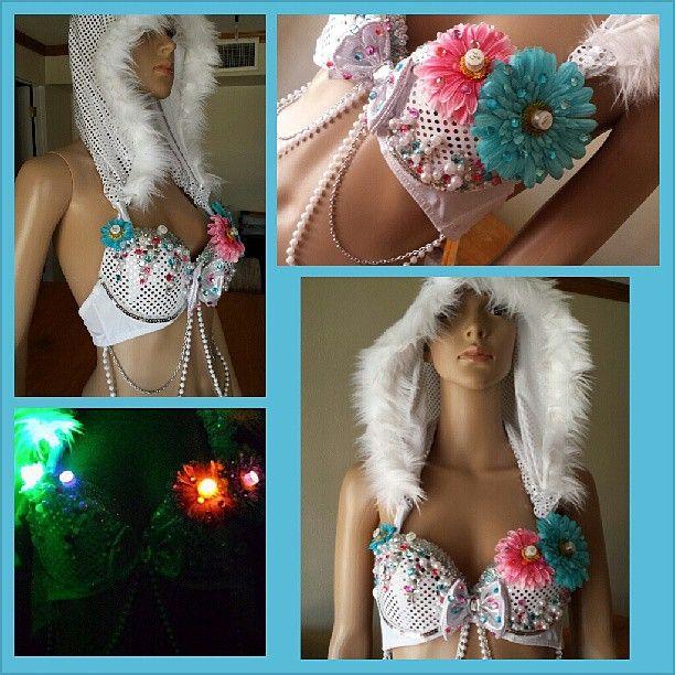 For Victoria #ravebra #edm #festival #dance #love #lightup #pink #blue #electricdaisycarnival  #pretty #custom #lasvegas #sewing #instagood