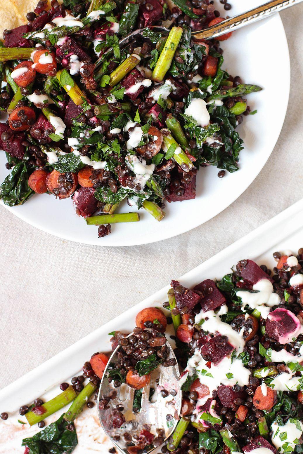 Warm Lentil Detox Salad - vegan & gluten free
