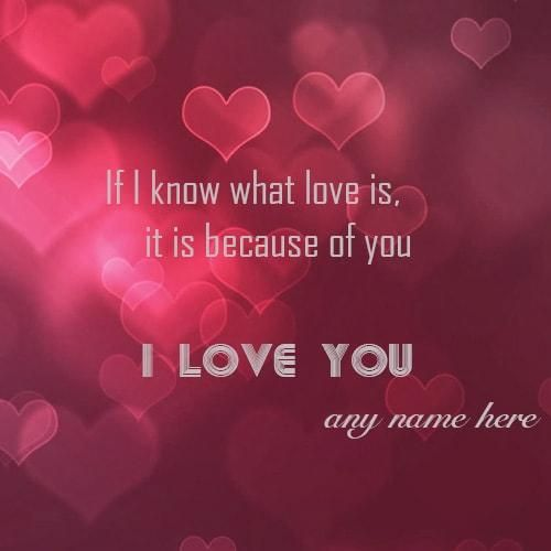 Write Lover Name On I Love You Heart Profile Picture Write