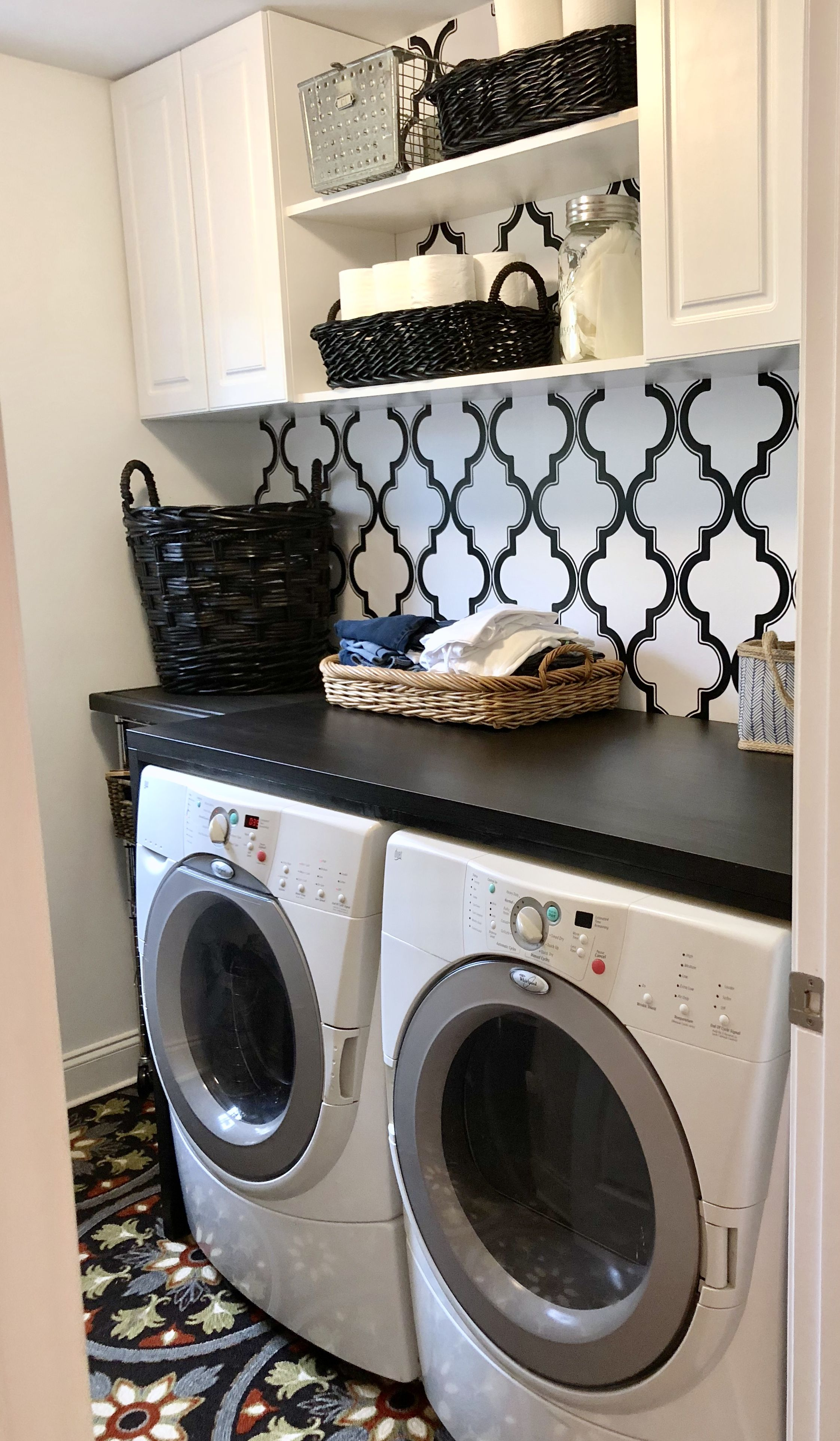 Added Countertop To Laundry Room Washer And Dryer Ikea Tabletop