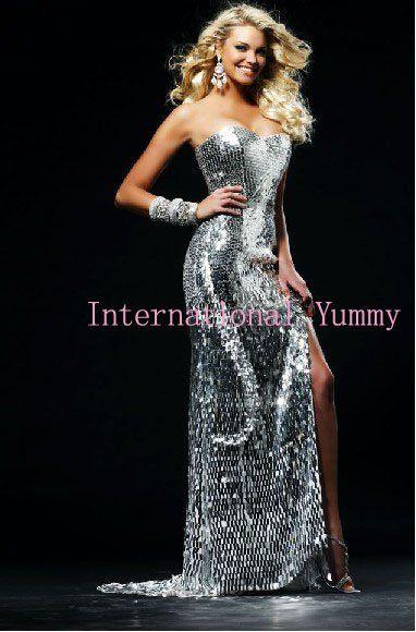 Sexy Silver Prom Dresses_Prom Dresses_dressesss