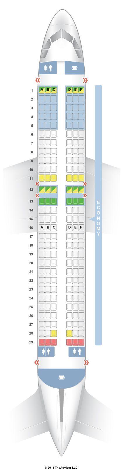 Seatguru Seat Map Volaris Airbus A320 320 Travel