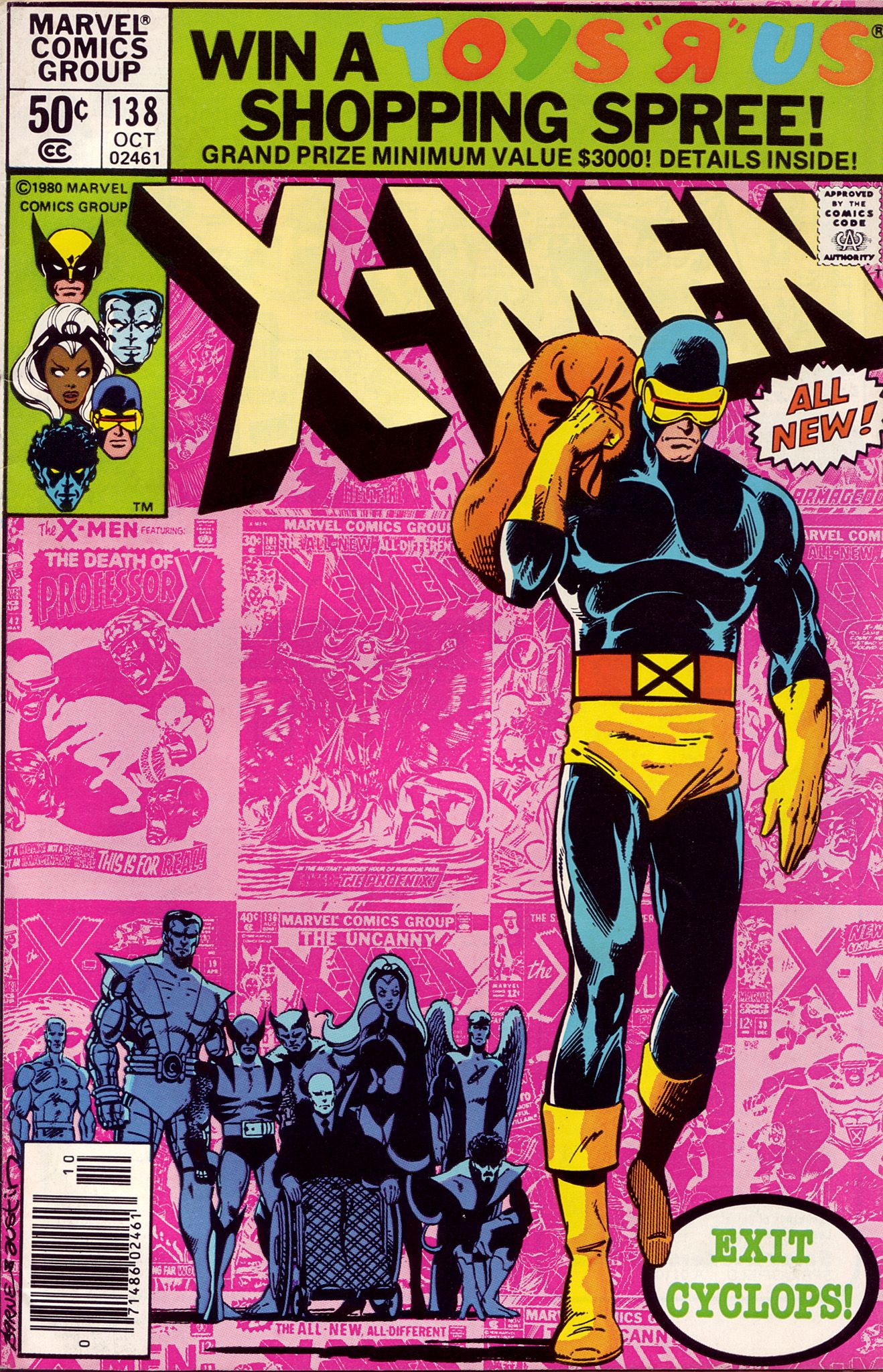 Uncanny X Men 138 Marvel 1980 Cover Art By John Byrne Inked By Terry Austin Marvel Comic Books Marvel Comics Covers Marvel Comics
