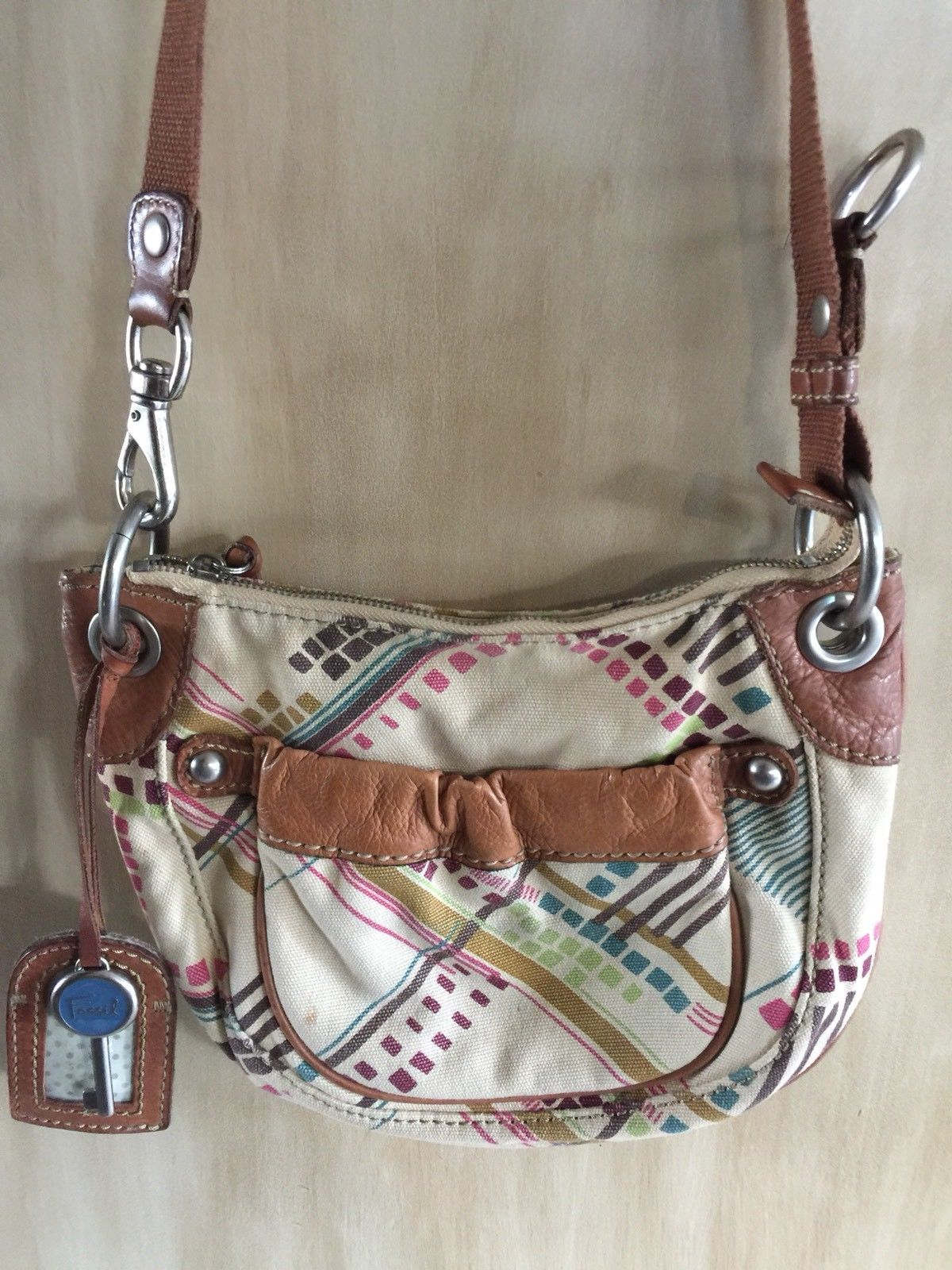 Bag Fossil Canvas Leather