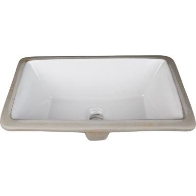 Hardware Resources H8909wh 16 Inch Undermount Rectangle Sink Basin