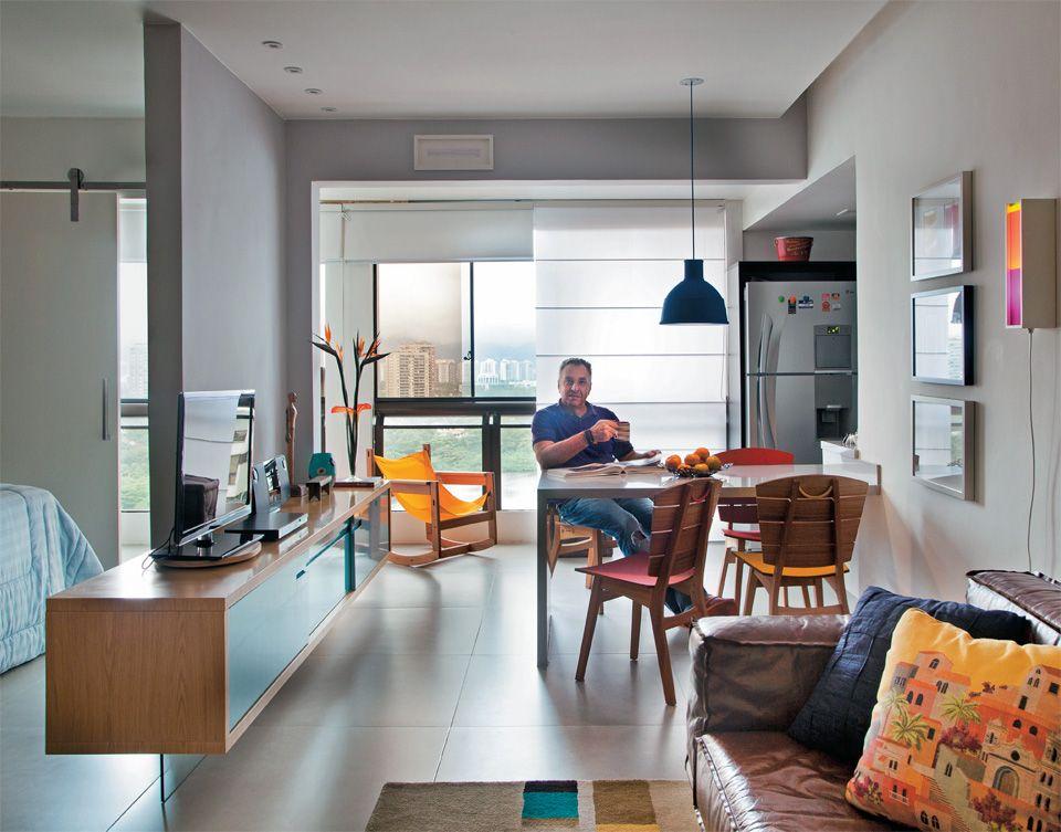 Apartamento pequeno reformado para um executivo