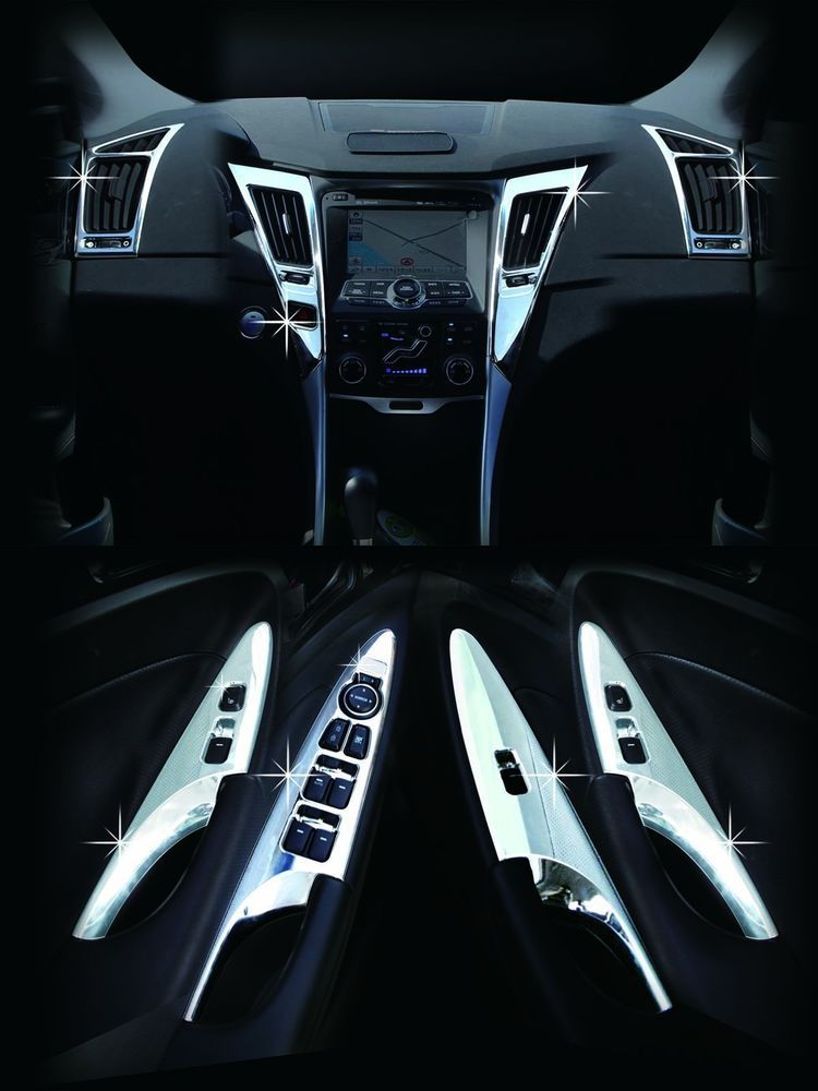 Chrome Premium Interior Molding Kit C363 (Fit:Hyundai Sonata i45 ...