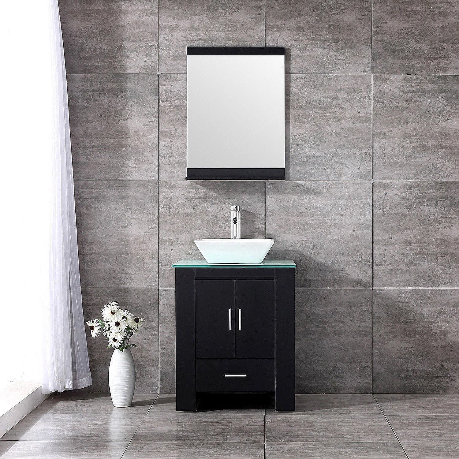 Shop Direct Vanity 32-inch Pearl White Mission Turnleg Spa ...
