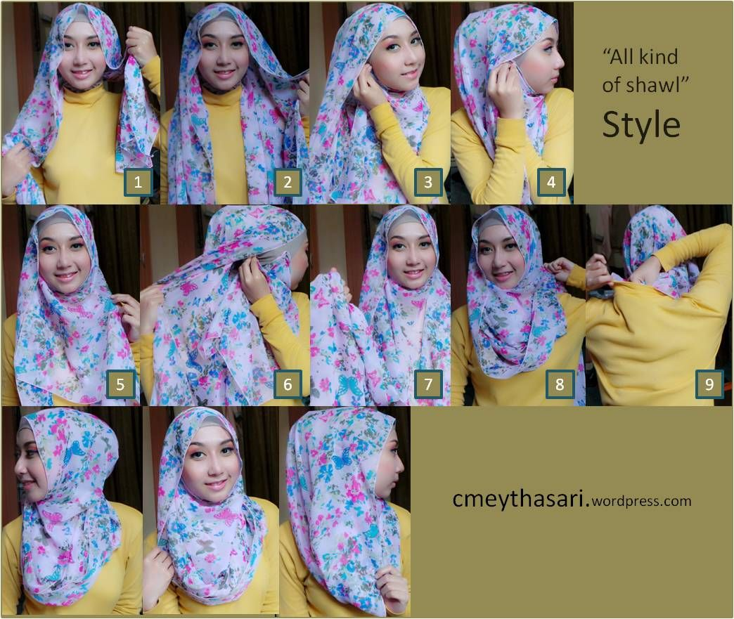 Tutorial Hijab Segi Empat Tanpa Ciput All Kind Of Shawl Hijab