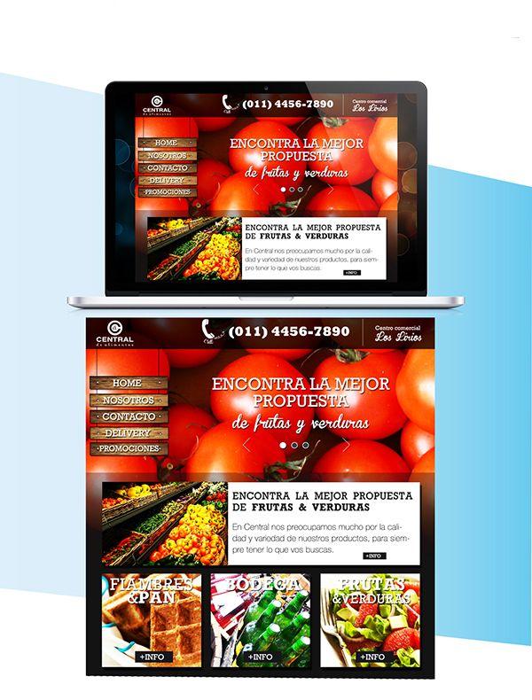 Web central de alimentos on Behance
