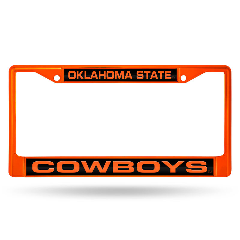 Best Oklahoma State Cowboys Chrome License Plate Frame With 640 x 480