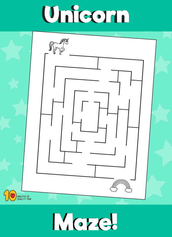 Unicorn Maze Unicorn Bunny Coloring Pages Dolphin Coloring Pages