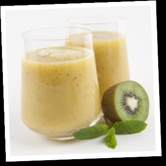 Smoothie al kiwi, mango e ananas (kiwi, mango and pineapple smoothie - recipe in italian)