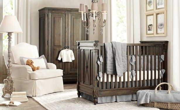 Baby Room Ideas In Contemporary House Interior Design With Stunning Pink Solid Wood Nursery Furniture
