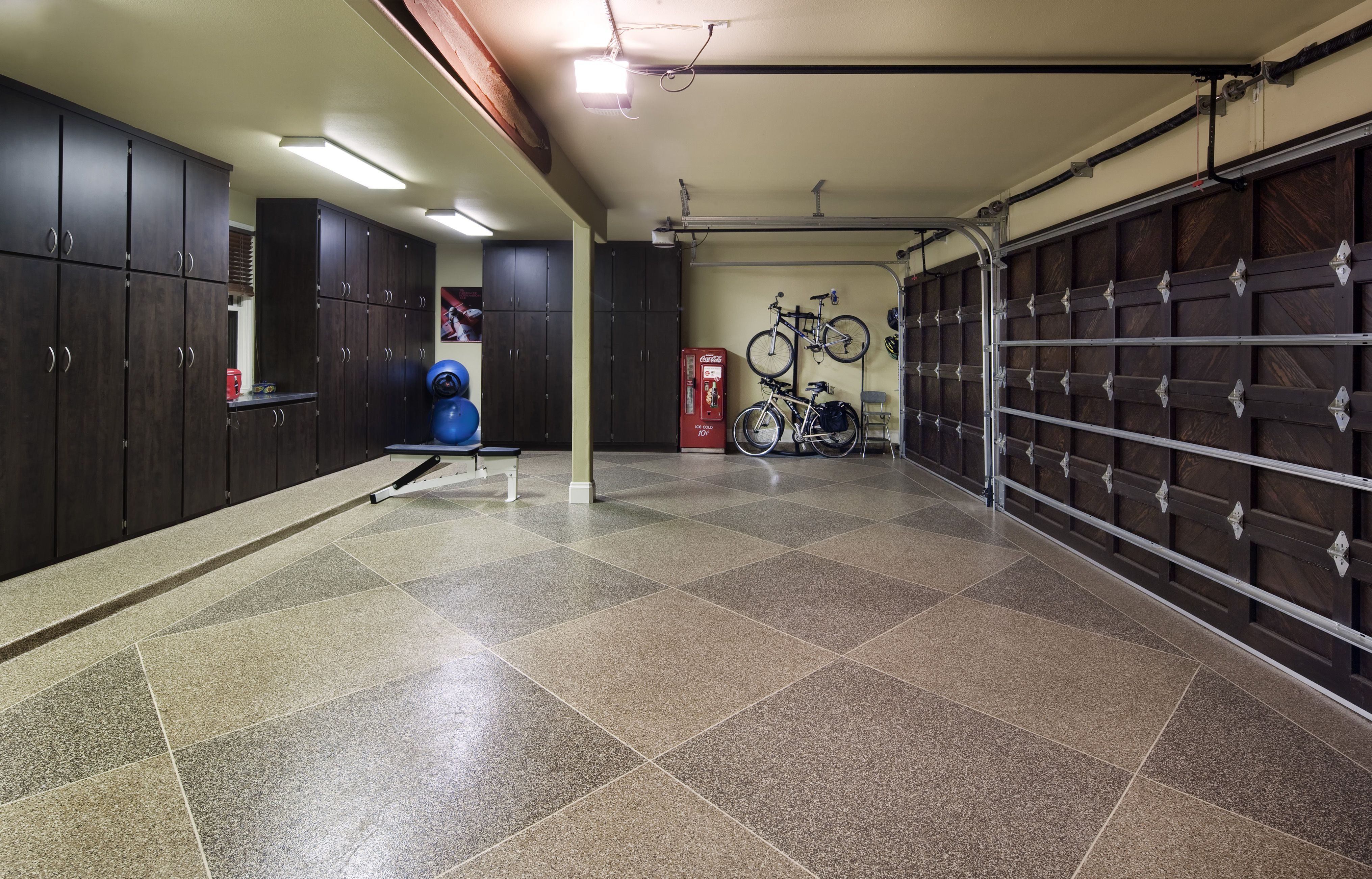 Built In Garage Storage And Finished Floors