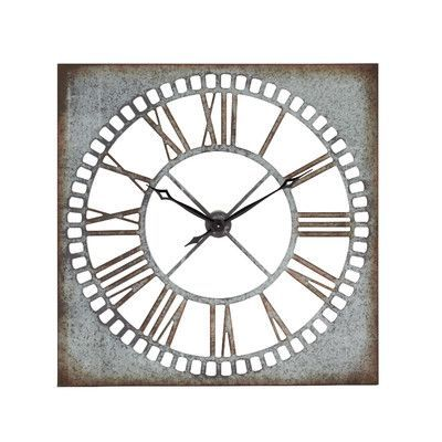 Oversized Troy Wall Clock In 2020 Square Wall Clock Wall Clock Oversized Wall Clock