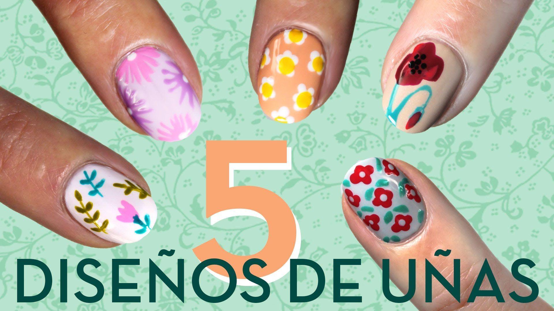 5 diseños Nail art con flores paso a paso - http://xn--decorandouas ...