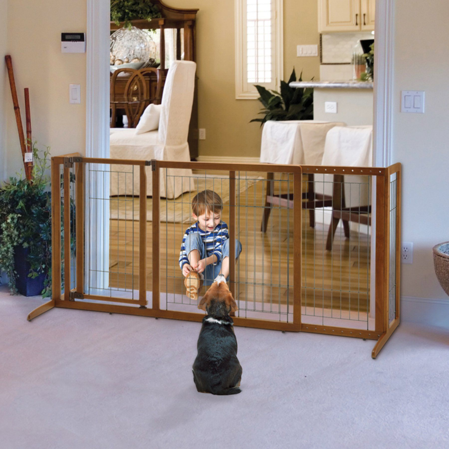 Richell Deluxe Freestanding Pet Gate With Door 94190 Products