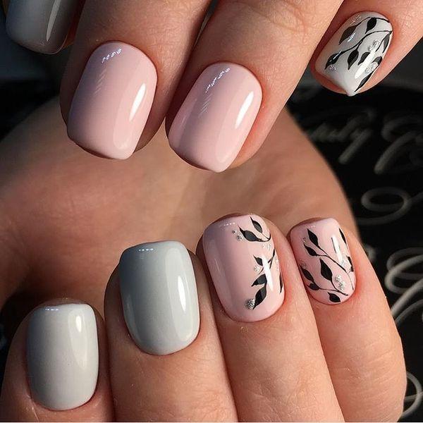 Delikatne Kwiaty Na Paznokciach Modny Motyw Na Wiosne Cute Nails Manicure Stylish Nails