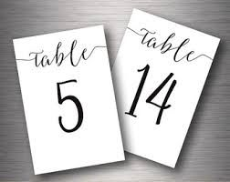 Image Result For Cute Diy Printable Table Number Cursive