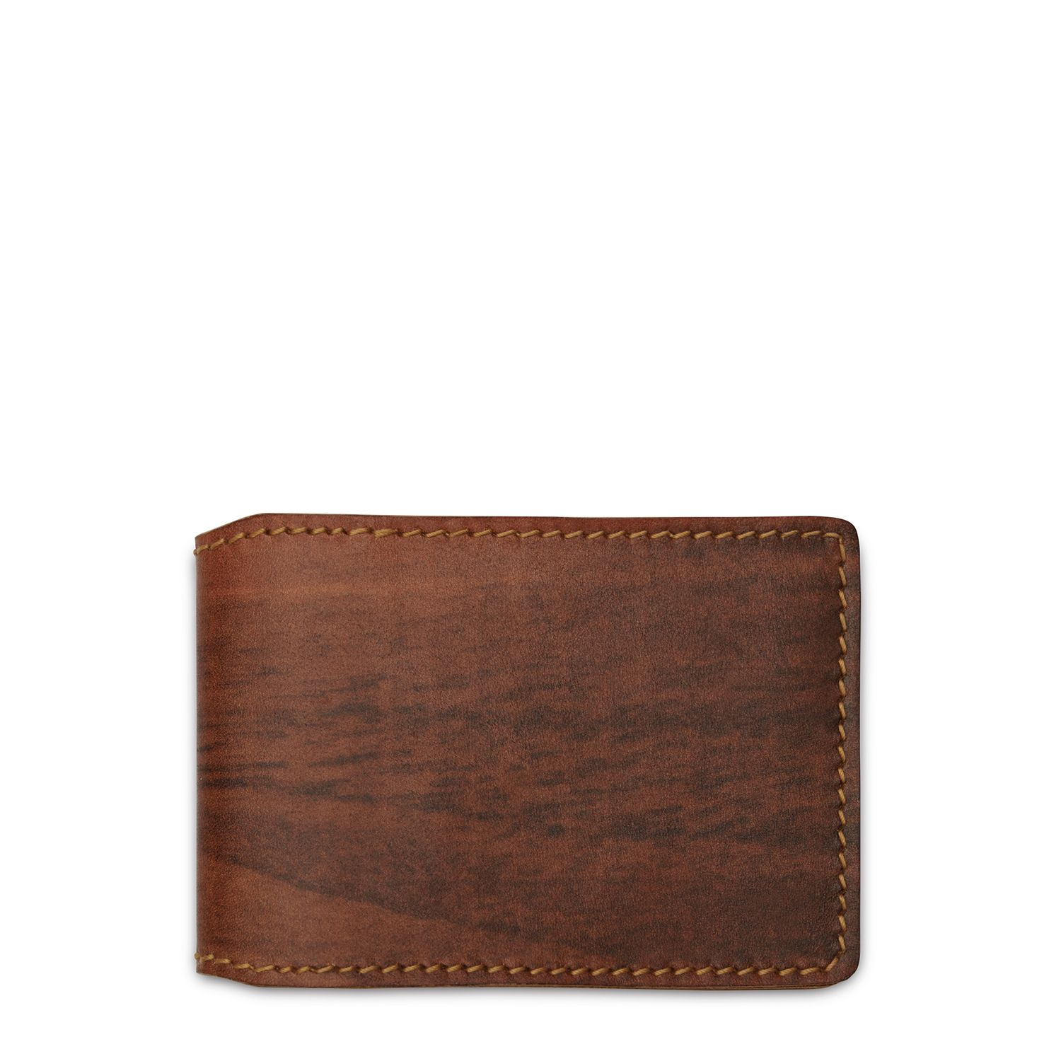 """""""SAGO"""" Double Fold Credit Card Case in Wooden Print and Hazelnut Leather 87ee4808f9cf"""