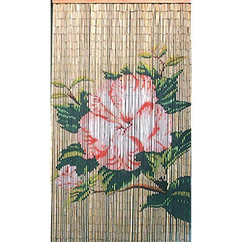 Lotus Flower Bamboo Beaded Curtain, From Amazon