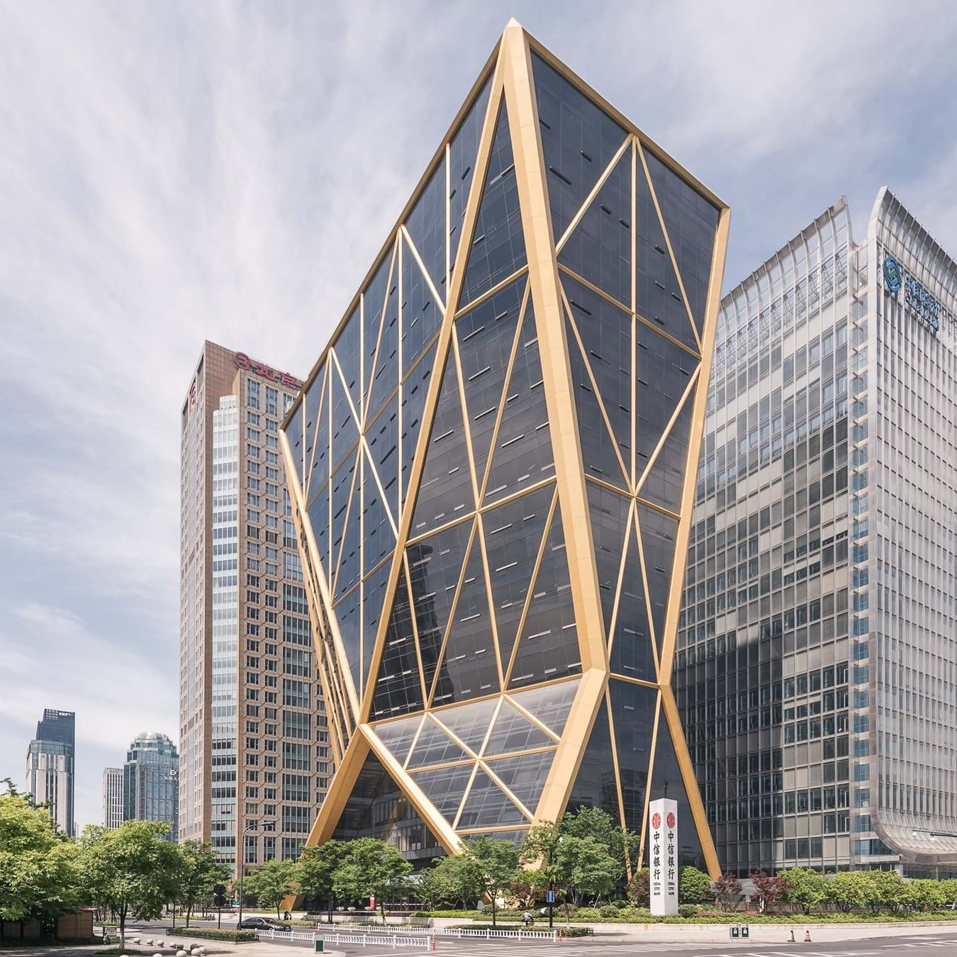 The Headquarters Tower For Citic Bank Has A Prominent Location In Hangzhou On A Main Axis Through A New Central Architect House Building Design Archi
