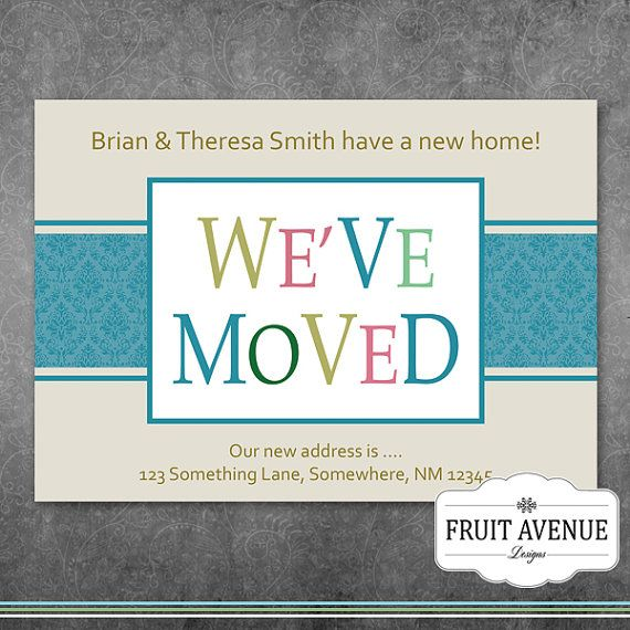 We Have Moved Announcement  DIY Printable by FruitAvenueDesigns, $10.00