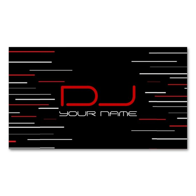 Unique Dj Business Card Pack Of Standard Business Cards This Is A