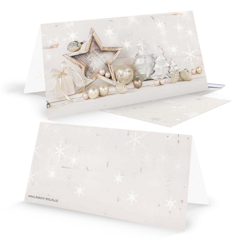 Weihnachtskarten Blanko.10 Stück Weihnachtskarten Set Blanko Ohne Text Gold Silber Weiß