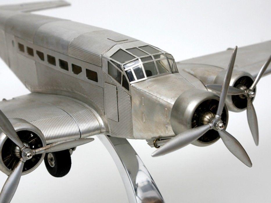 details zu flugzeugmodell ju 52 junker metall flugzeug aluminium schreibtisch deko modell - Schreibtisch Aus Flugzeugflgel