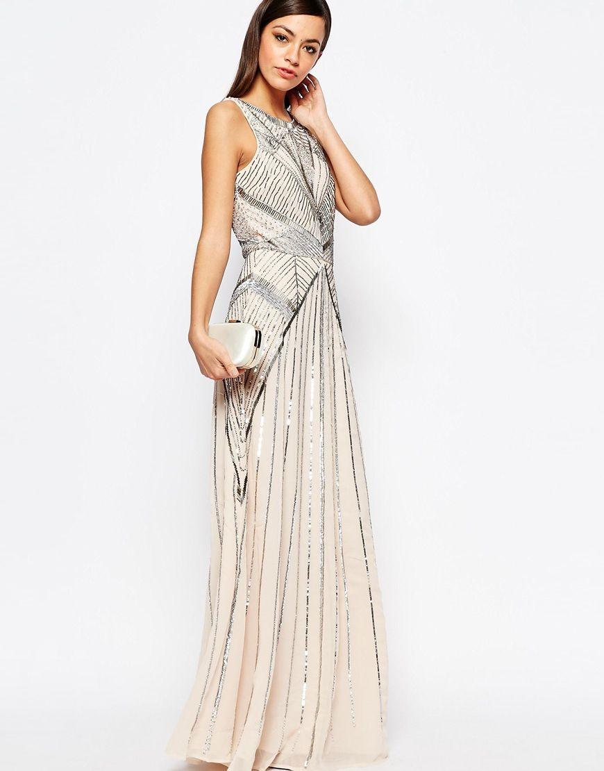 New look sequin maxi dress