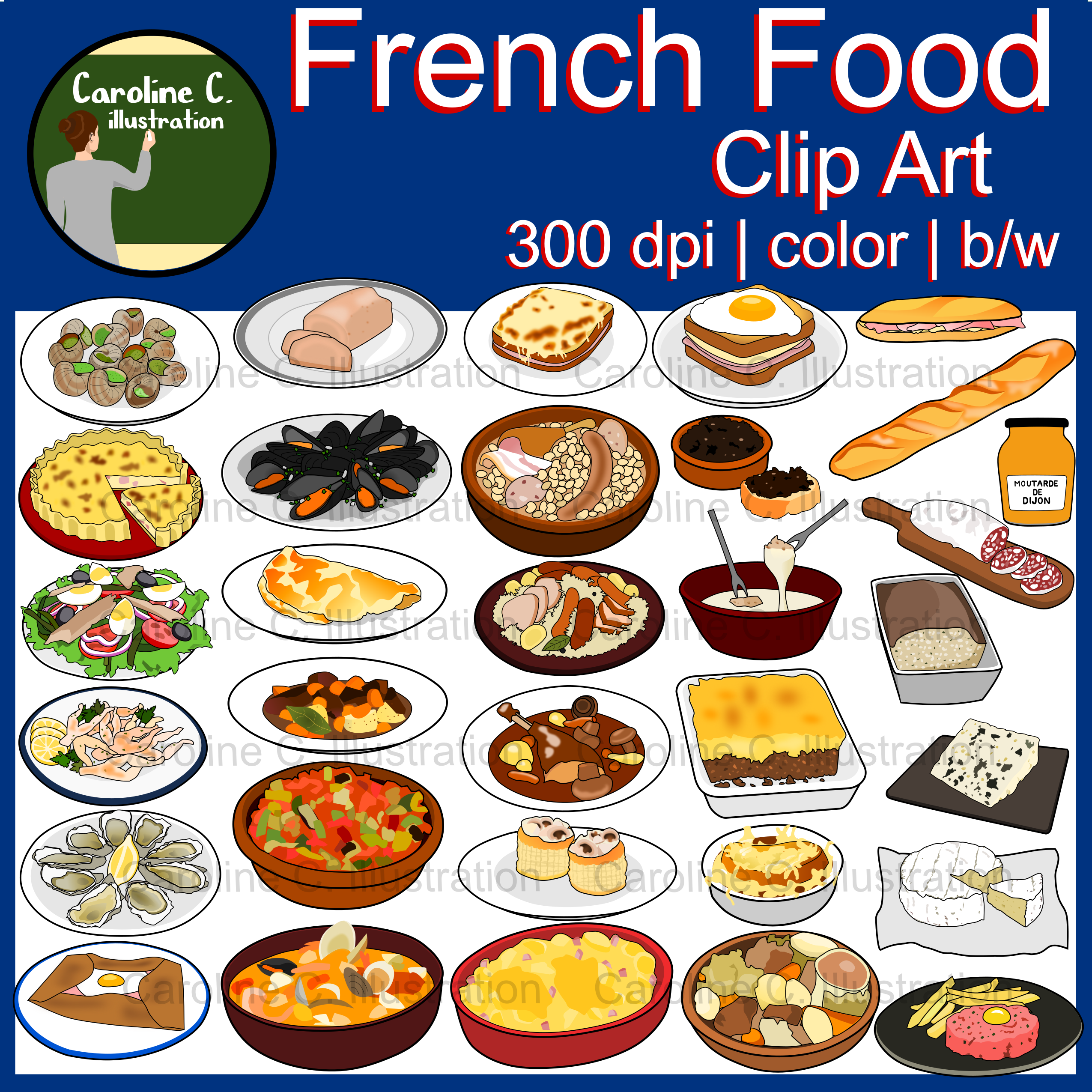 French Food Clip Art Food Clips Clip Art French Food