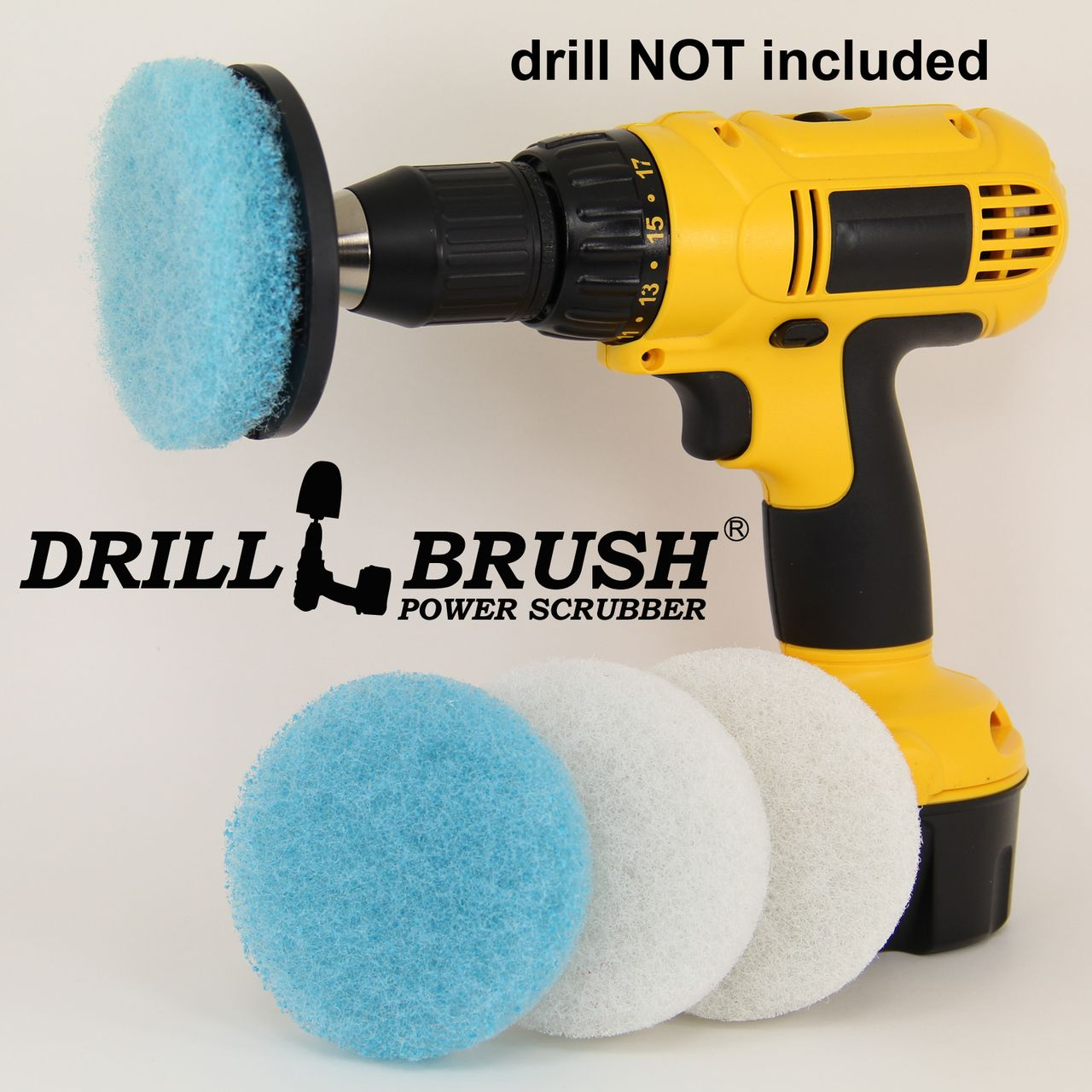Scouring Pad Brush Electric Drill Clean Kitchen Floor Hard: Electric Handheld Power Scrubber Attachment Tub And Tile