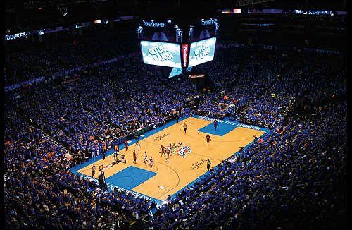 new product 419a7 f8b91 Oklahoma City Thunder Chesapeake Energy Arena Game Night ...