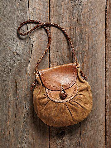 Free People Vintage Leather Shoulder Bag