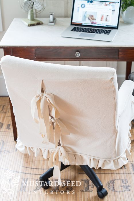 Megan S Office Makeover In 2020 Slipcovers For Chairs Office