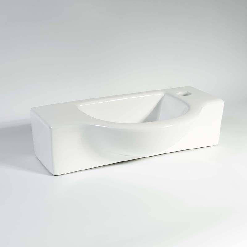 Lave Main Rectangulaire Sans Trop Plein Ceramique 45x25 Cm Arum Lave Main Lave Ceramique