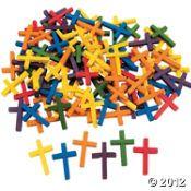 100 Wonderful Wood Cross Beads