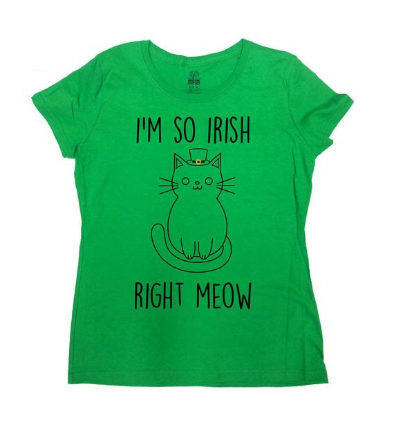 b91dc3fa Funny Cat Shirt St Patricks Day T Shirt St Pattys Day Outfit Cat Lover  Kitty TShirt St Paddys Day I'