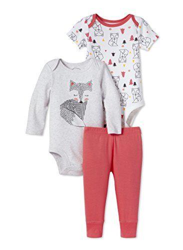 f65f44267 Clothes · Lamaze Baby Organic 3 Piece Bodysuit Set, Grey Fox, 3M La.