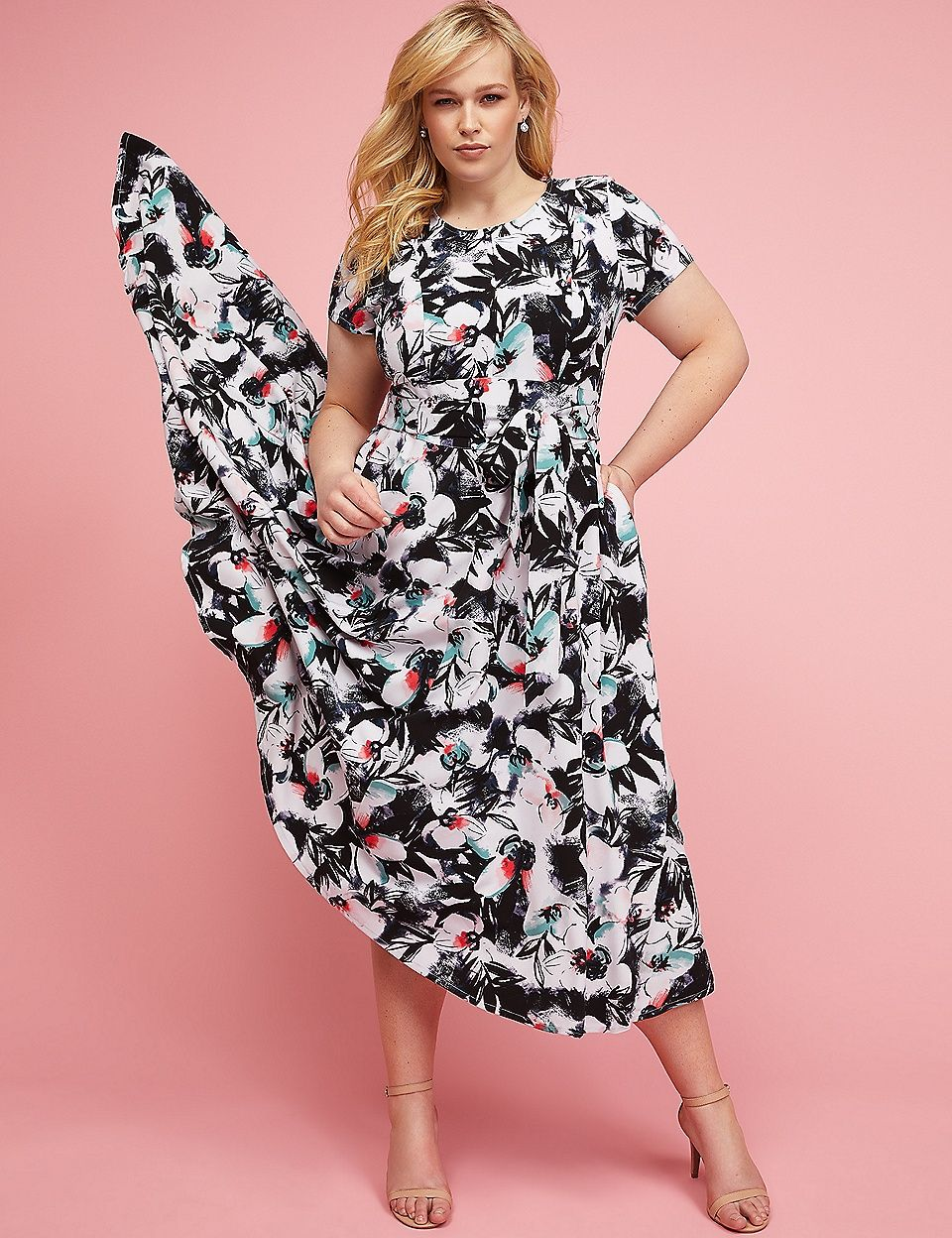 8143d8e9f89 Belted High-Low Maxi Dress