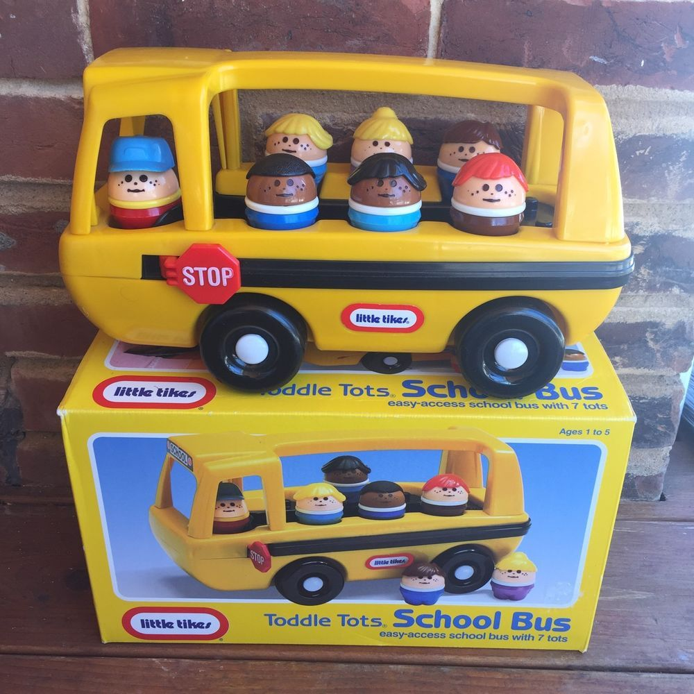 Little tikes cash register - Vintage Little Tikes Toddle Tots Yellow School Bus 7 Figures Original Box 0800