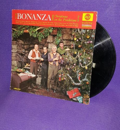 1963 BONANZA Christmas On The Ponderosa lp album Michael Landon ...