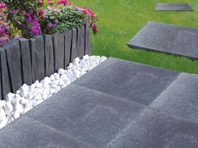 Une allée stylée pour mon jardin | Bordure de jardin, Pierre ...