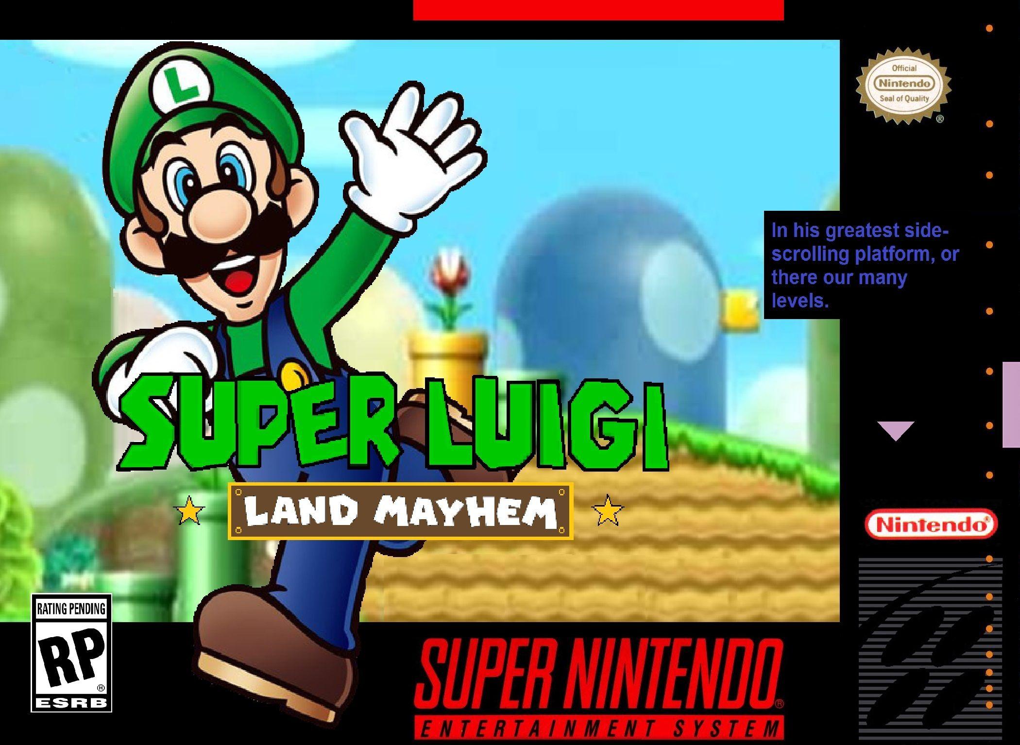 Super Luigi Land Mayhem Snes Boxart Jogos Classicos Jogos Retro