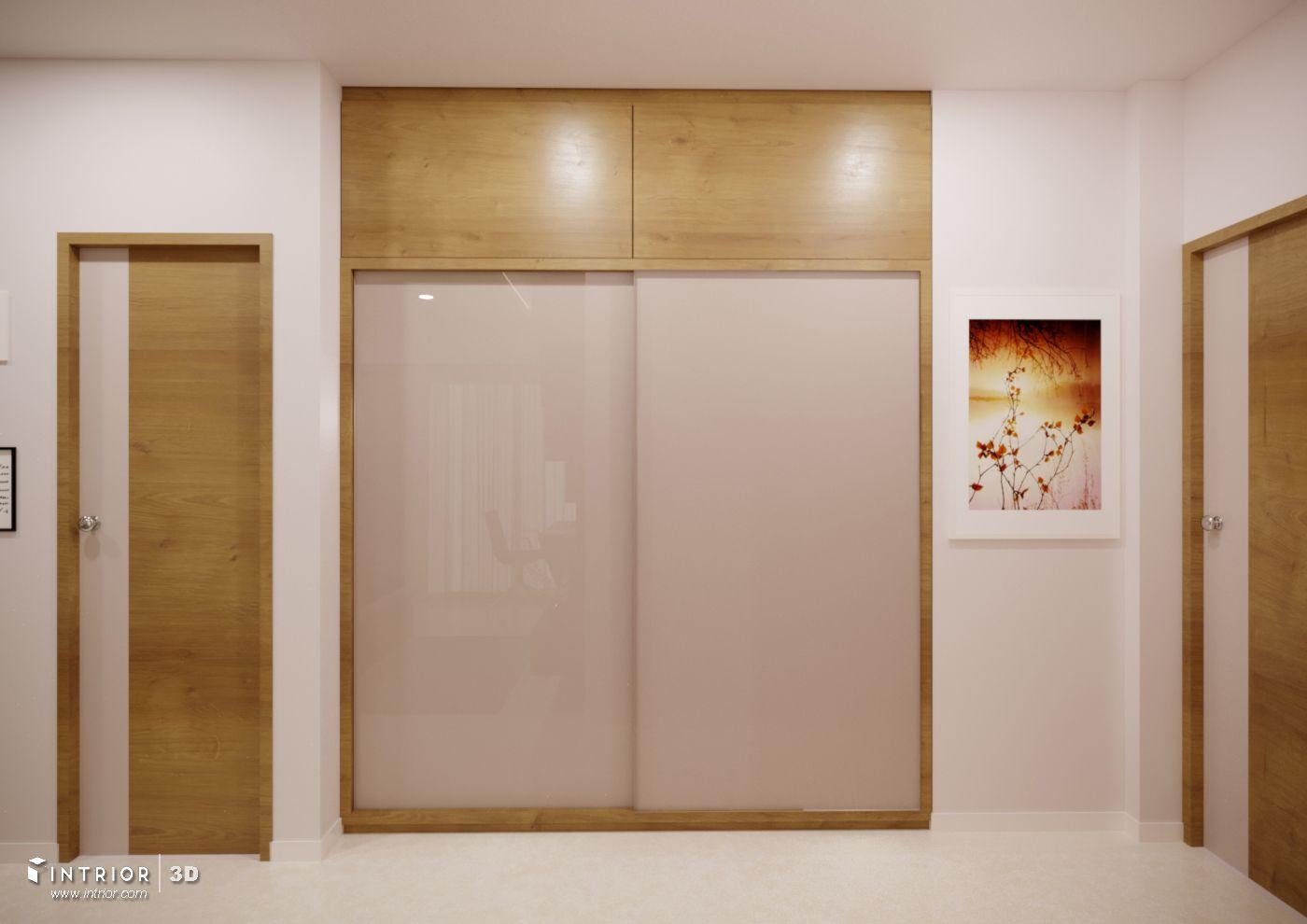 Sliding Wardrobe In Acrylic Shutters Living Room Partition Design Interior Room Decoration Bed Furniture Design