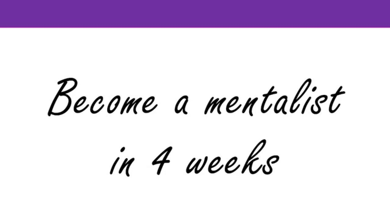 Become A Mentalist In 4 Weeks How Beginners Can Learn Mentalism Card Tricks And More The Easy Way Card Tricks Card Tricks For Beginners How To Become